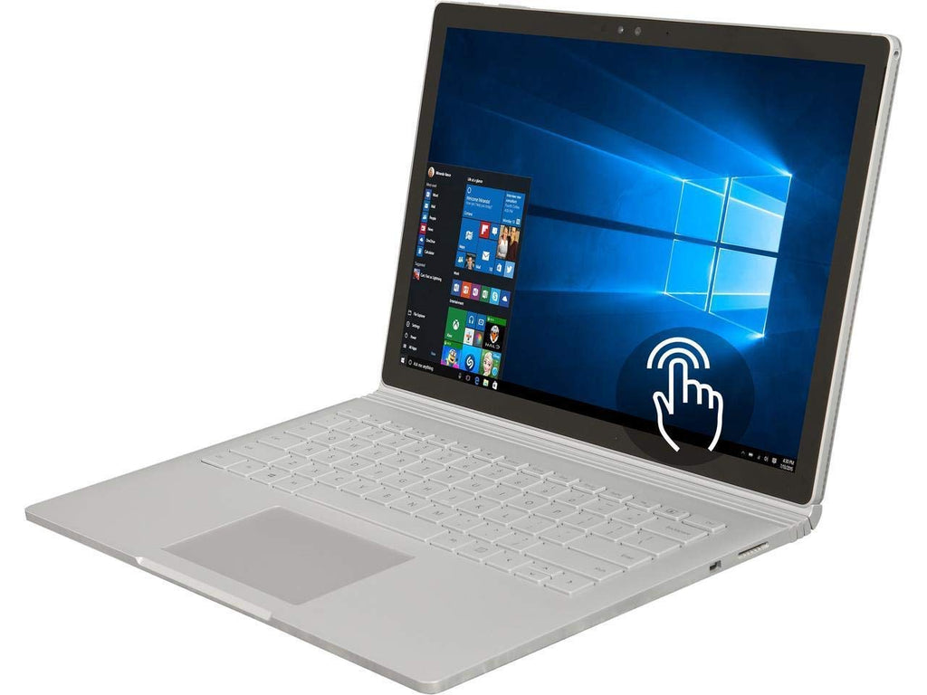 "Microsoft 13.5"" PixelSense (Touchscreen) Detachable Surface Book, Intel Core i7-6600U, 2.60Ghz, 8GB RAM, 256GB SSD, Windows 10 Pro 64-Bit, Silver - FMR-00001 (Certified Refurbished)"