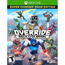 Override: Mech City Brawl Super Charged Mega Edition (PlayStation 4) Video Game, ESRB-T13+, Multiplayer Mode - 791450