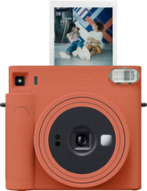 Fujifilm Instax SQUARE SQ1 Instant Camera, Instant Film, Terracotta Orange - 16670510