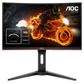 "AOC C24G1 24"" Full HD Curved LED Monitor, 1 ms, 16:9, 80M:1-Contrast, 144Hz, Black - C24G1-B (Certified Refurbished)"