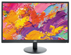"AOC E2470SWHE 23.6"" Full HD LCD Monitor, 5 ms, 16:9, 20M:1, 60Hz, Black - E2470SWHE-B"