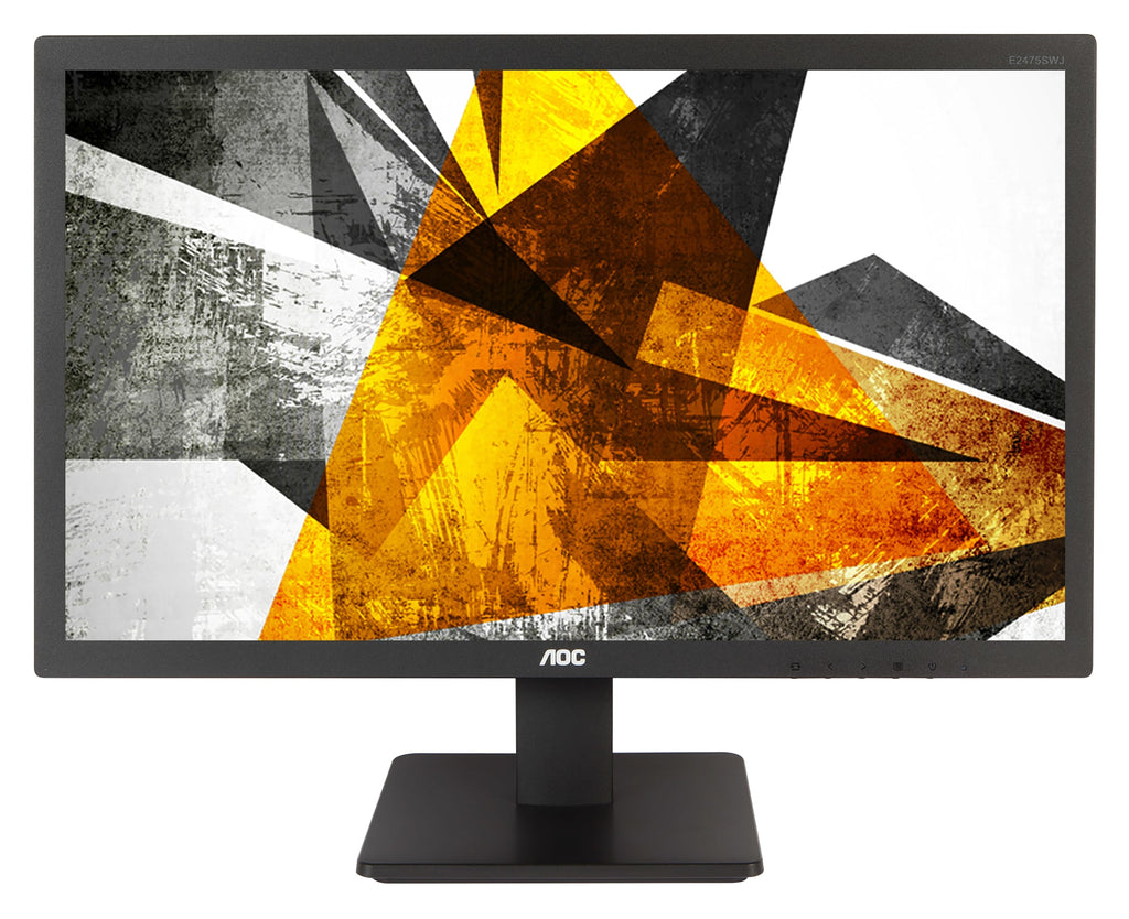 "AOC 23.6"" Full HD LED Computer Monitor, WLED Display, 1MS-Response, 16:9, 20M:1-Contrast, Tilt-adjustment, Black - E2475SWQE-B (Certified Refurbished)"