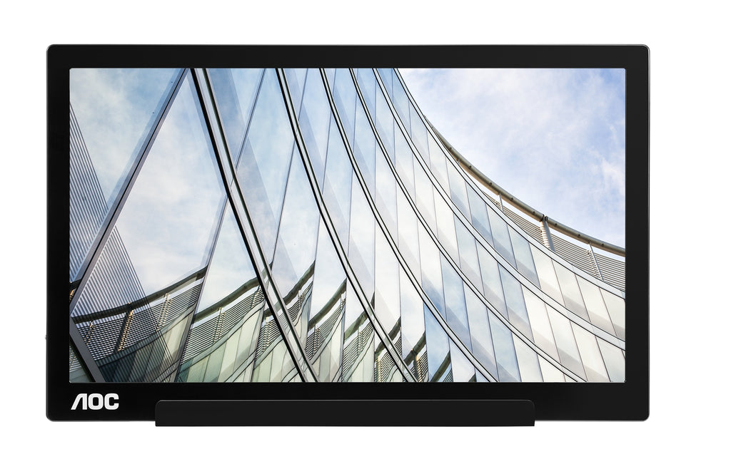 "AOC I1601FWUX 15.6"" Full HD Portable Monitor, IPS LED, 5ms, 16:9, 700:1-Contrast, 60Hz, Black - I1601FWUX-B (Certified Refurbished)"