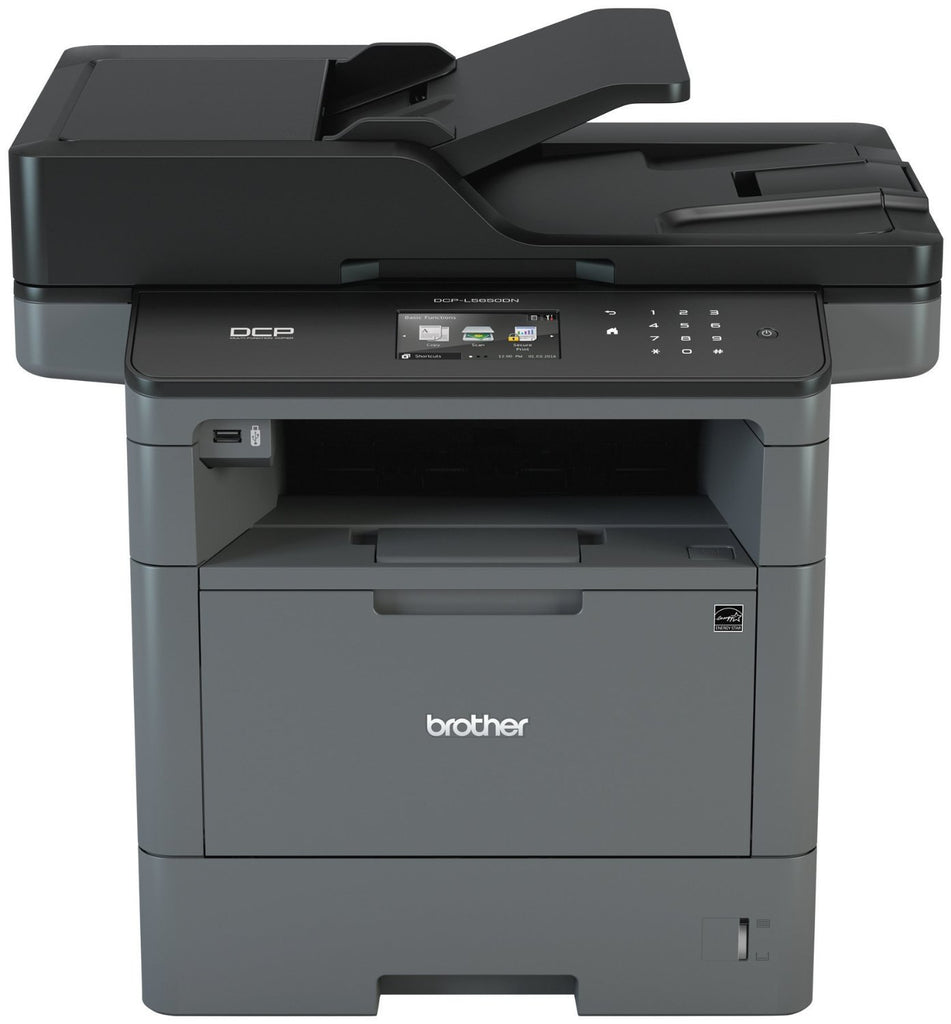 Brother DCP Monochrome Laser Multi-function Printer, 512MB Memory, Ethernet, Color Touchscreen Display - DCP-L5650DN