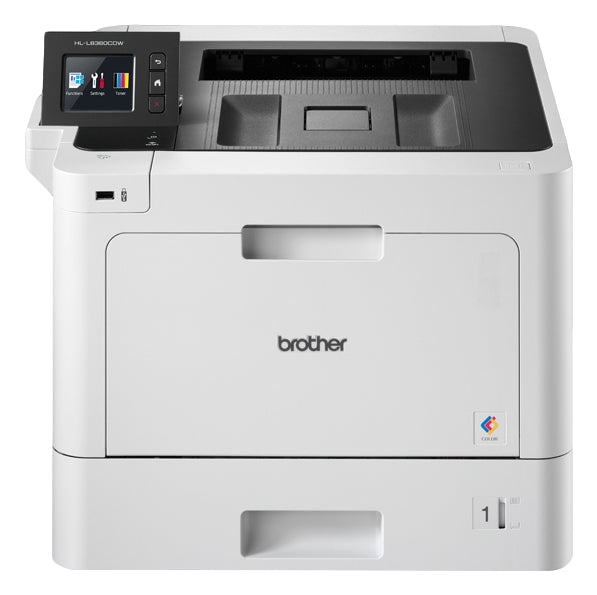 Brother Business Color Laser Printer, 512MB Memory, Ethernet, Wireless Printing, Duplex Printing, Color Touchscreen Display  - HL-L8360CDW