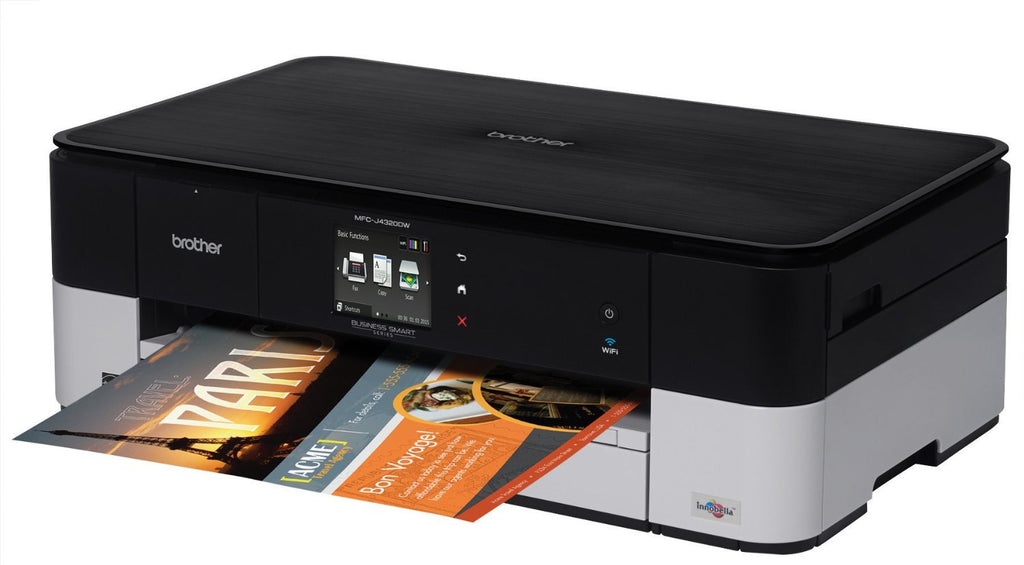 Brother MFC Inkjet All-in-One Color Printer, 128MB Memory, Wireless, Touchscreen LCD Display - MFC-J4320DW