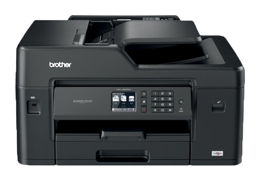 Brother MFC Inkjet All-in-One Color Printer, 128MB Memory, Ethernet, Wireless, Color Touchscreen LCD Display - MFC-J6530DW