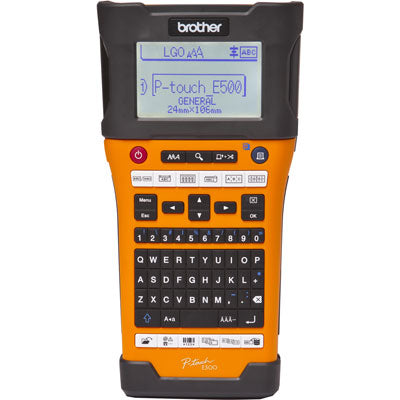 Brother P-Touch EDGE Industrial Handheld Labeling Tool, USB, PC-connectivity, Auto Cutter, Laminated Thermal Transfer - PT-E500