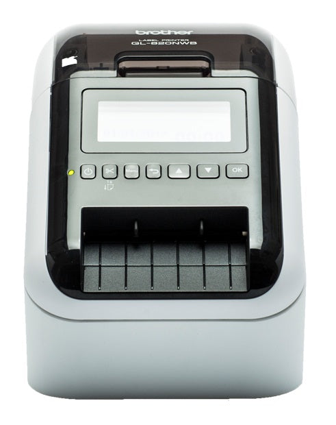 Brother Professional Ultra Flexible Label Printer, Black/Red Labels, 110 LPM, LCD -  QL-820NWB