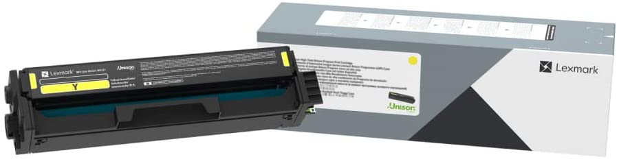 Lexmark Yellow High Yield Print Cartridge for Select Color Laser Printers, 2,500 Pages Yield - C330H40