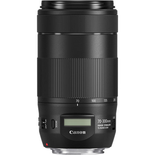 Canon EF 70 mm-300 mm, f/4 to f/45, Telephoto Zoom Lens for Canon EF, Black- 0571C002
