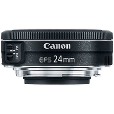 Canon EF-S 24 mm, f/2.8 STM Wide Angle Lens for Canon EF-S, Black- 9522B002