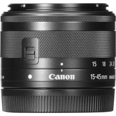 Canon EF-M 15 mm-45 mm, f/3.5 - 6.3 IS Zoom Lens for Canon EF-M, Graphite- 0572C002