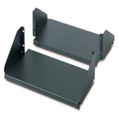 APC Double Sided Fixed Shelf for 2-Post Rack, 250 lbs Weight Load, Black - AR8422