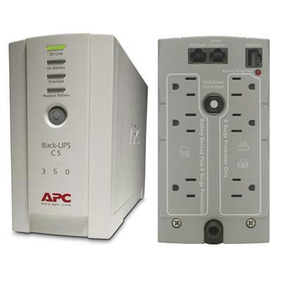 APC Back-UPS CS 350 120V Backup System, 350VA, 210W - BK350