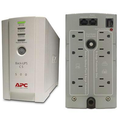 APC Back-UPS CS 500 120V Backup System, 500VA, 300W - BK500