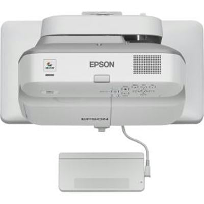 Epson BrightLink 695Wi Ultra Short Throw LCD Projector, 3LCD WXGA (1280x800), 3500 lumens, 14000:1, White - V11H740522