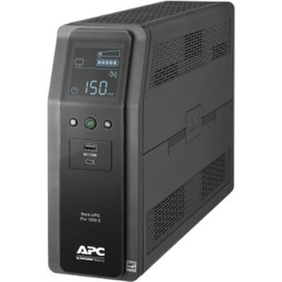 APC Back-UPS Pro BR 1500VA, SineWave, Line-Interactive, 10 Outlets, 2 USB Charging Ports, LCD Interface - BR1500MS