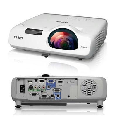 Epson PowerLite 530 Short Throw Projector, 3LCD XGA (1024 x 768), 3200 Lumens, 16,000:1, White - V11H673020