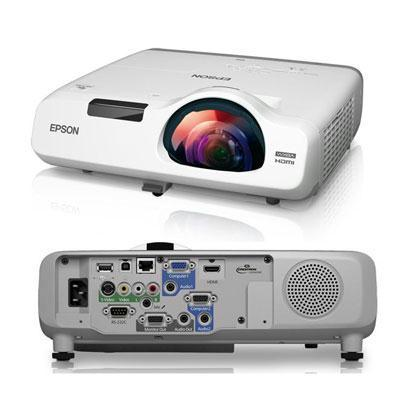 Epson PowerLite 535W Short Throw Data Projector, 3LCD WXGA (1280 x 800), 3400 Lumens, 16,000:1, White - V11H671020