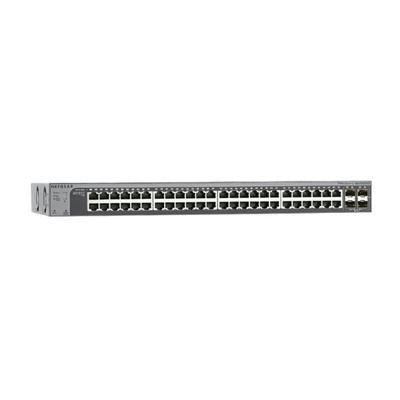 Netgear ProSafe 48-port Gigabit Stackable Smart Managed Ethernet Switch, 48 x RJ-45 Ports, 4 x SFP+ Ports, Desktop/Rack-mountable - GS752TXS-100NAS