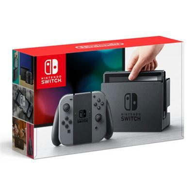 Nintendo Switch with Gray Joy-Controllers HACSKAAAA