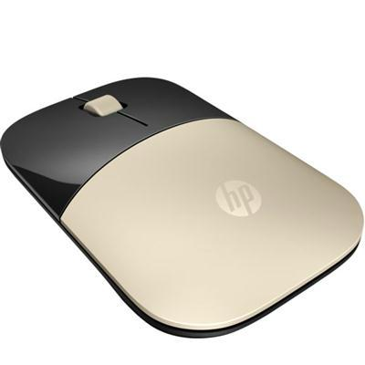 HP Z3700 Wireless Mouse, RF Wireless, 3 Buttons, 1200 dpi, Gold - X7Q43AA#ABL