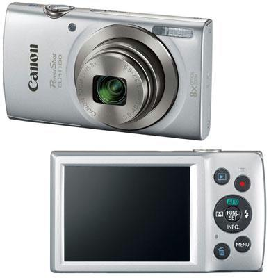 Canon PowerShot 180 20 Megapixel Compact Camera - Silver  1093C001