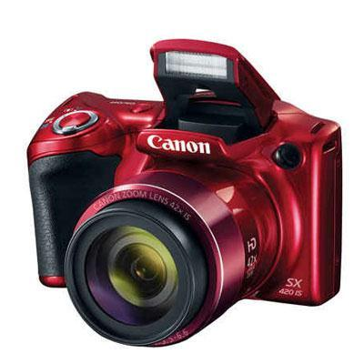 Canon PowerShot SX420 IS 20 Megapixel Compact Camera - Red 1069C001