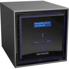 Netgear ReadyNAS 424 4-bay High-performance Network Data Storage, 2GB Memory, 4 x 2TB Drive Bays, 2 x USB 3.0, 2x Gigabit Ports, Desktop - RN424D2-100NES