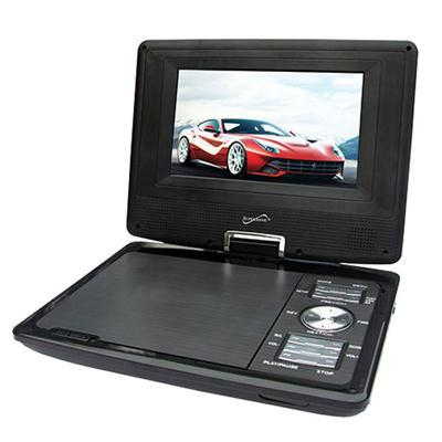 "Supersonic SC-257A Portable DVD Player - 7"" Display - 480 x 234 (SC-257A) TV Antenna"