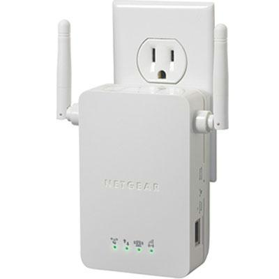 Netgear Universal N300 Wireless Range Extender, 54 Mbit/s Speed, Fast Ethernet, 1 x RJ-45 Port, Wall Mountable - WN3000RP-100NAS