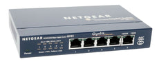 Netgear ProSafe 5-port Unmanaged Ethernet Switch, 5 x RJ-45 Ports, Desktop/Wall-mountable - GS105NA