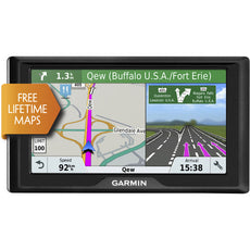 "Garmin Drive 61 LM Automobile Portable GPS Navigator, 6.1"" Touchscreen Color Display, Mountable, Black - 010-01679-0B"