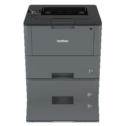 Brother Business Monochrome Laser Printer, 256MB Memory, 520 sheets, 48 ppm, WiFi, Duplex Printing, Dual Paper Trays - HL-L6200DWT