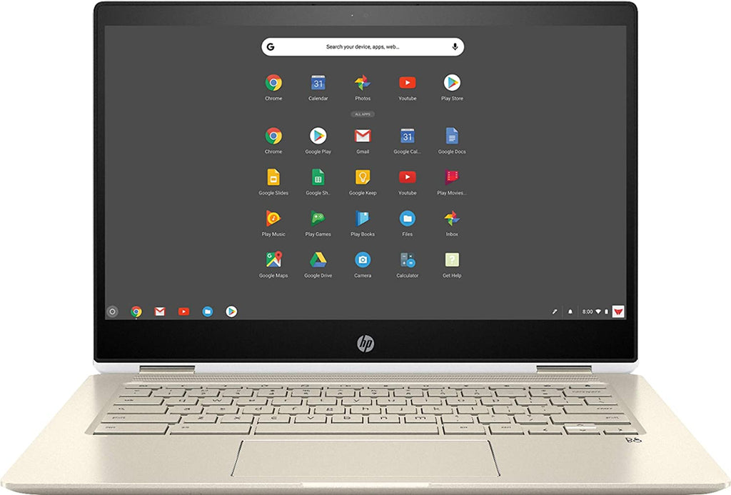 "HP Chromebook x360 14-da0012dx 14"" Touch Convertible Notebook,Intel i3-8130U,2.20GHz,8GB RAM,64GB eMMC,Chrome OS-7UL19UA#ABA(Certified Refurbished)"
