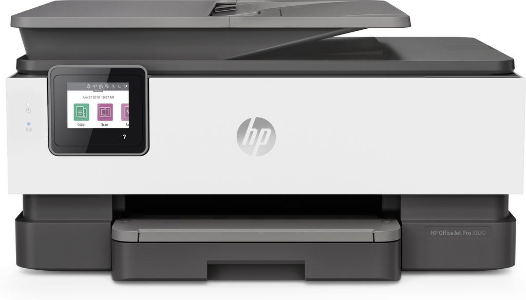 HP OfficeJet Pro 8025 All-in-One Color Inkjet Printer, 20 ppm Black, 10 ppm Color, 4800 x 1200 dpi, 256 MB Memory, WiFi, Ethernet, Duplex Printing - 1KR57A#B1H
