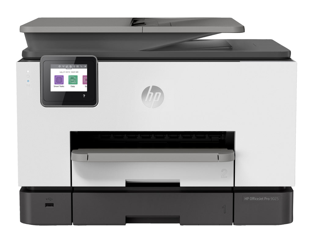 HP OfficeJet Pro 9025 All-in-One Color Inkjet Printer, 24 ppm Black, 20 ppm Color, 4800 x 1200 dpi, 512 MB Memory, WiFi, Ethernet, USB 2.0, Duplex Printing - 1MR66A#B1H