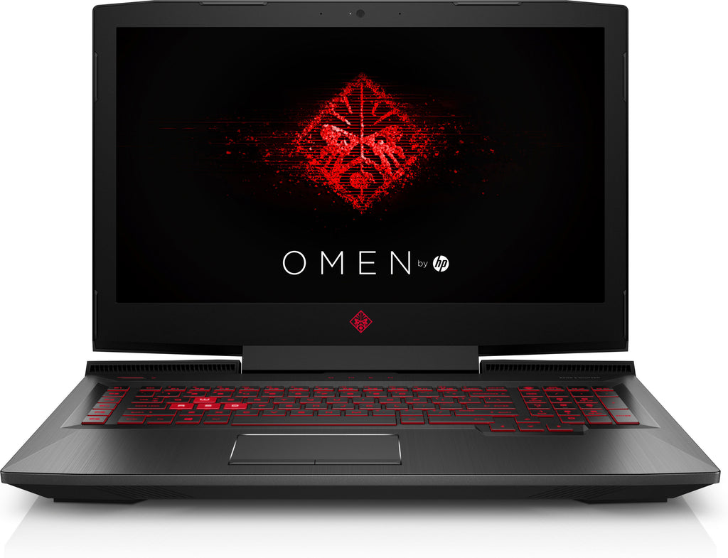 "HP OMEN 17-w295ms 17.3"" Full HD (Non-Touch) Gaming Laptop, Intel:i7-7700HQ, 2.80GHz, 16GB RAM, 1TB HDD + 256GB SSD, Windows 10 Home 64-Bit - 1QL54UA#ABA (Certified Refurbished)"