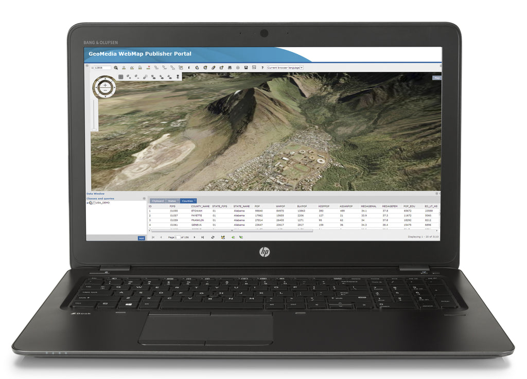 "HP ZBook 15u G3 Mobile Workstation 15.6"" IPS FHD Intel Core i7, 2.50GHz, 16GB RAM,  256GB PCIe SSD, Windows 10 Pro -6ZG40UT#ABA"