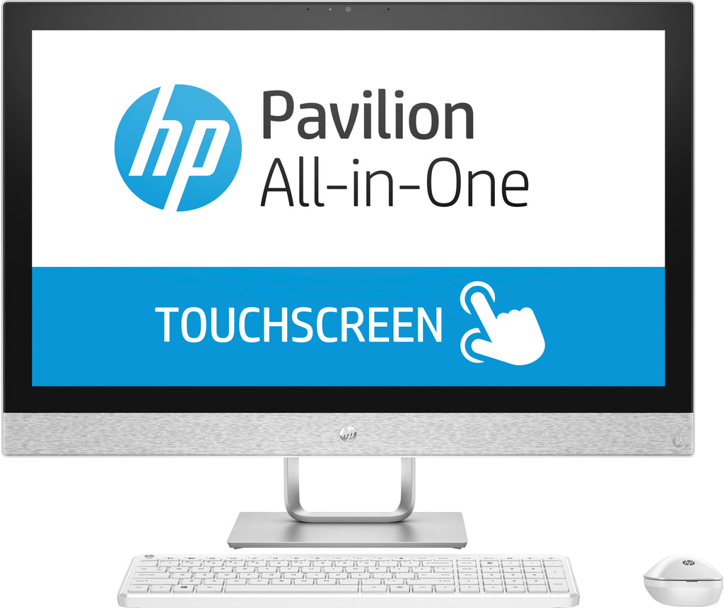 "HP Pavilion 27-r039 All-in-One Computer, 27"" FHD (Touchscreen) Display, Intel Core i5, 2.40GHz, 8GB RAM, 1TB HDD + 16 GB SSD, Windows 10 Home 64-Bit- 2HJ57AA#ABL"
