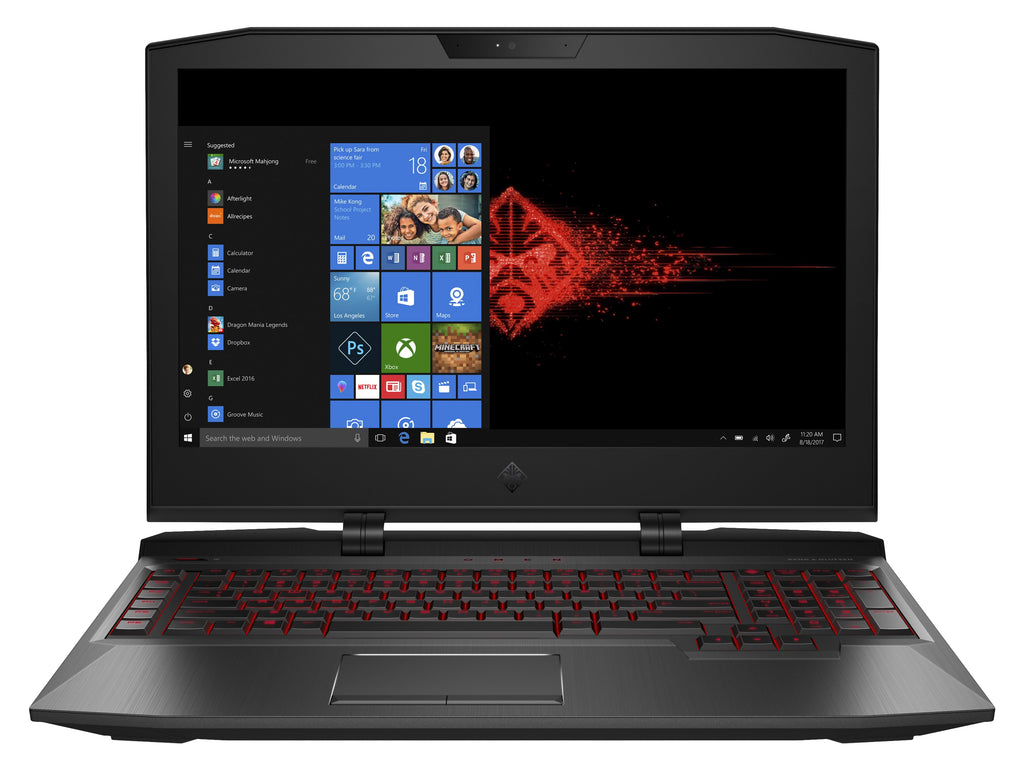 "HP OMEN 17-ap020nr 17.3"" Full HD (Non-Touch) Gaming Laptop, Intel:i7-7820HK, 2.90GHz, 16GB RAM, 1TB HDD + 256GB SSD, Windows 10 Home 64-Bit - 2LV60UA#ABA (Certified Refurbished)"