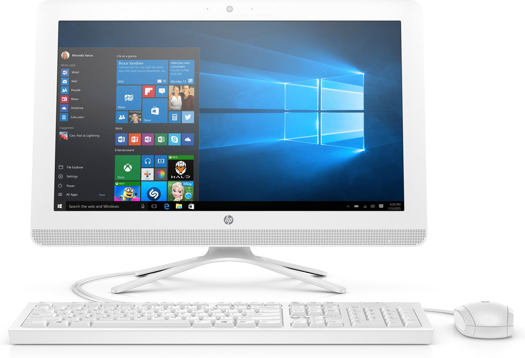 "HP 22-c0030 21.5"" Full HD (Touchscreen) All-in-One Computer, Intel Core i3-8130U, 2.20GHz, 4GB RAM, 1TB SATA, Windows 10 Home 64-Bit - 3KZ93AA#ABA"