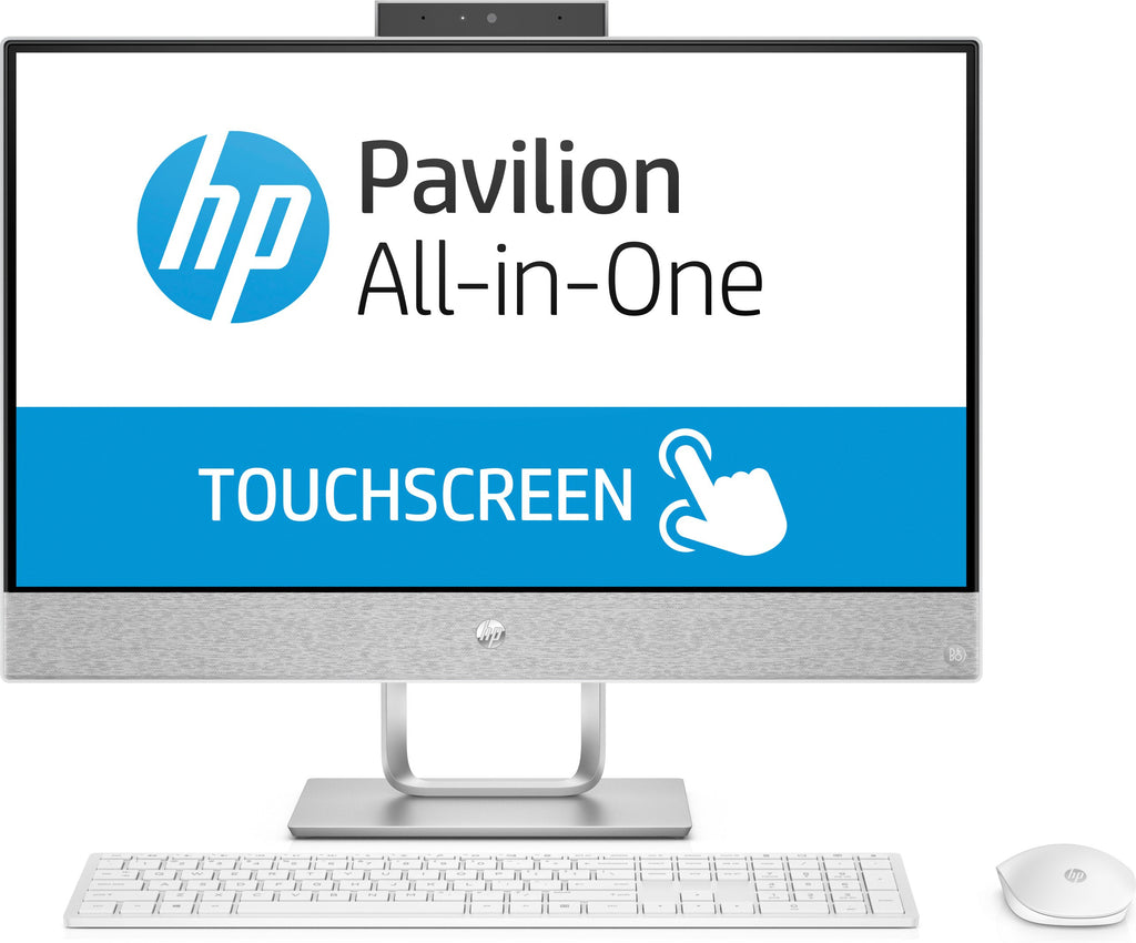 "HP Pavilion 24-r159c 23.8"" FHD (Touchscreen) All-in-One Desktop PC, Intel Core i5-8400T, 1.70GHz, 12GB RAM, 1TB HDD + 128GB SSD, Windows 10 Home 64-Bit - 3LB52AA#ABL (Certified Refurbished)"