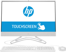 "HP 24-f0019 All-in-One Desktop PC, 23.8"" FHD (Touchscreen) Display, Intel Core i3, 3.10GHz, 8GB RAM, 2TB HDD + 128GB SSD, Windows 10 Home 64-Bit, Snow White- 3LB69AA#ABL"