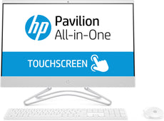 "HP 24-f0012cy All-in-One (Touchscreen) Desktop PC, 23.8"" FHD, AMD A9-9425, 3.10GHz, 4GB RAM, 1TB HDD, Windows 10 Home 64-Bit, Snow White - 3LC01AA#ABA"