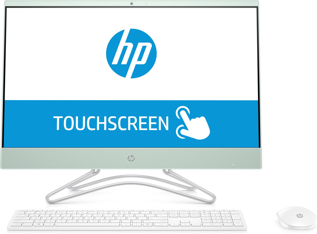 "HP 24-f0032cy All-in-One (Touchscreen) Desktop PC, 23.8"" FHD, AMD A9-9425, 3.10GHz, 4GB RAM, 1TB HDD, Windows 10 Home 64-Bit, Serenity Mint - 3LC03AA#ABA"