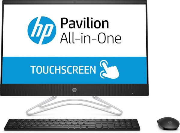 "HP 24-f0022cy All-in-One (Touchscreen) Desktop PC, 23.8"" FHD, AMD A9-9425, 3.10GHz, 4GB RAM, 1TB HDD, Windows 10 Home 64-Bit, Jet Black - 3LC02AA#ABA (Certified Refurbished)"