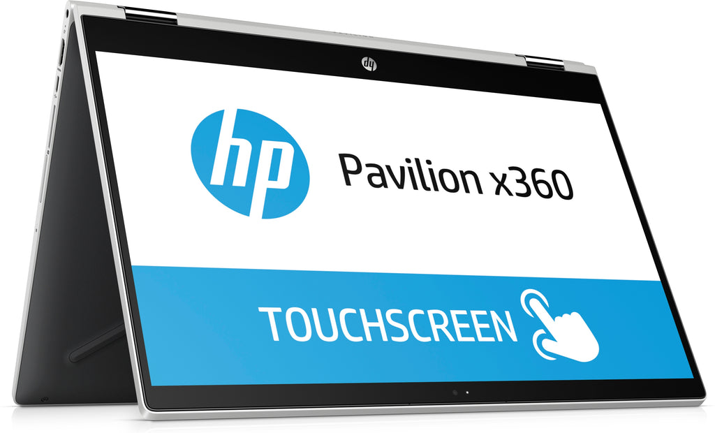 "HP Pavilion X360 15-cr0075nr 15.6"" FHD (Touchscreen) Convertible Notebook, Intel Core i3-8130U, 2.20GHz, 8GB RAM, 1TB HDD, Windows 10 Home 64-Bit,  Natural Silver, Ash Silver- 3VN45UA#ABA"