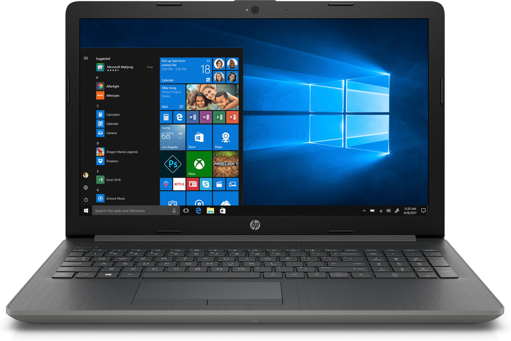 "HP 15-db0030nr 15.6"" HD (Touchscreen) Notebook, AMD Ryzen 3-2200U, 2.50 GHz, 8GB RAM, 1TB HDD SATA, Windows 10 Home-64 Bit, Smoke Gray- 3WE68UA#ABA"